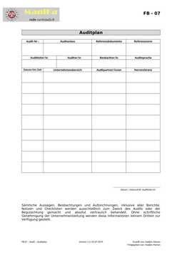 Audit – Auditplan_Vorlage