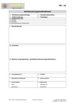 Audit – Verbesserungsmaßnahmen_Vorlage