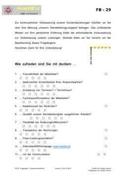 Fragebogen - Kundenzufriedenheit_Vorlage