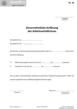 Kündigung Einvernehmlich (EV)_Arztpraxis_Vorlage_Muster