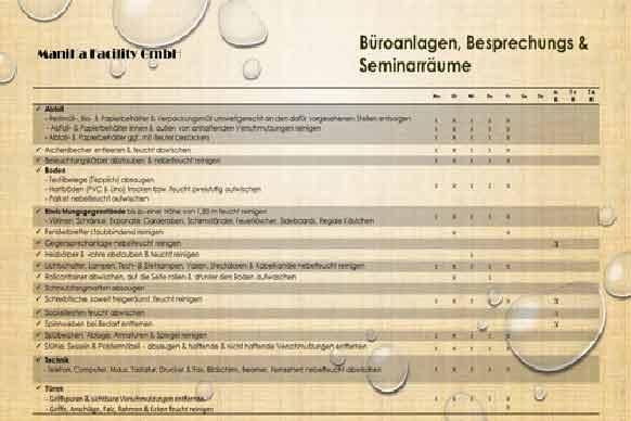 Büroreinigung_Leistungsverzeichnis